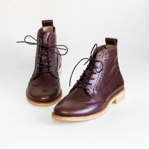 Зимние женские ботинки броги Isadora Browny