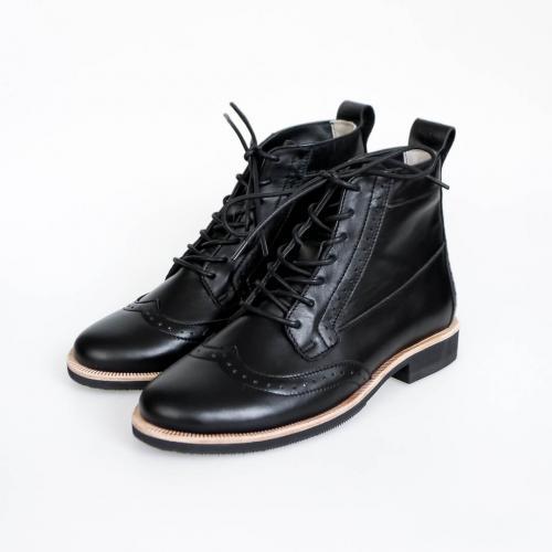 Зимние женские ботинки броги Isadora Black