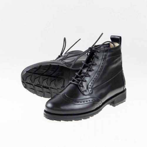 Зимние женские ботинки броги Isadora All Black