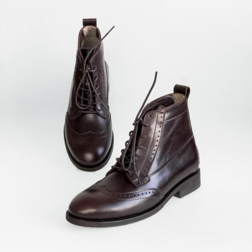Зимние мужские ботинки Hi Brogue №1 Mocco