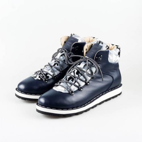 c54f6e269 Зимние кожаные мужские ботинки для хайкинга Hiker темно-коричневые
