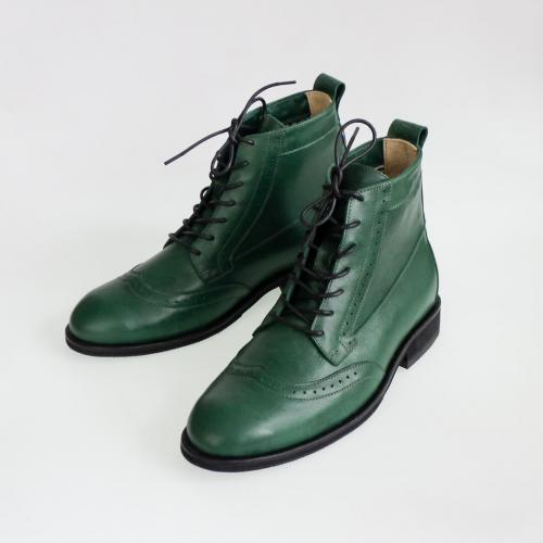 Зимние мужские ботинки Hi Brogue №1 Emerald