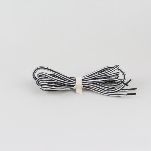 Шнурки для ботинок Hiker - 145 см - черные с белым