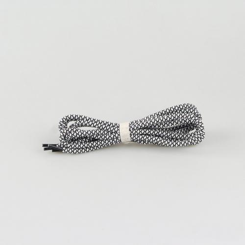 Шнурки в стиле rope laces для ботинок Hiker - 145 см - черные с белым