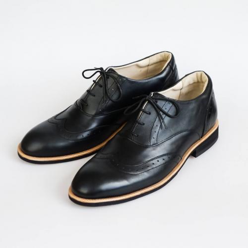 Классические мужские ботинки Brogue №1 Black