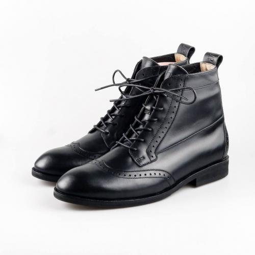 Высокие мужские ботинки Hi Brogue №1 All Black