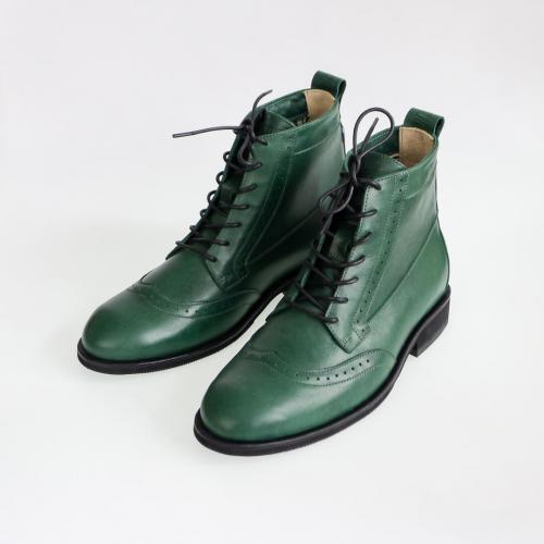 Высокие мужские ботинки Hi Brogue №1 Emerald