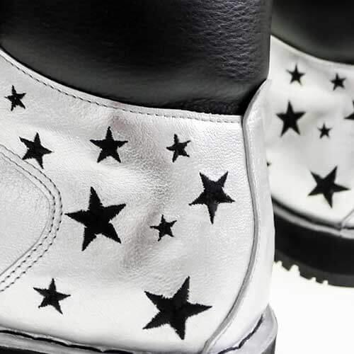 Нанесения паттерна или фирменной графики на обувь вышивкой