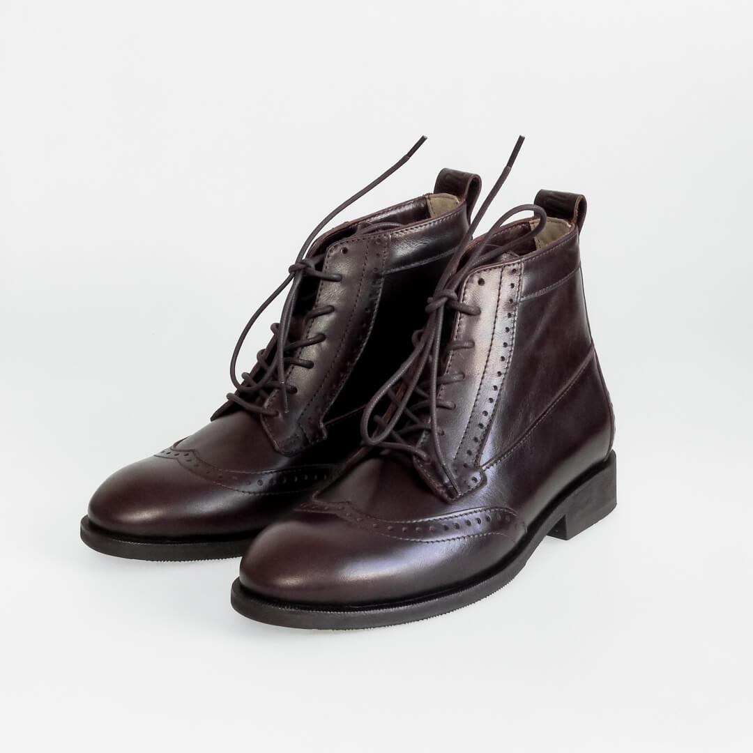 Высокие мужские ботинки Hi Brogue №1 Mocco
