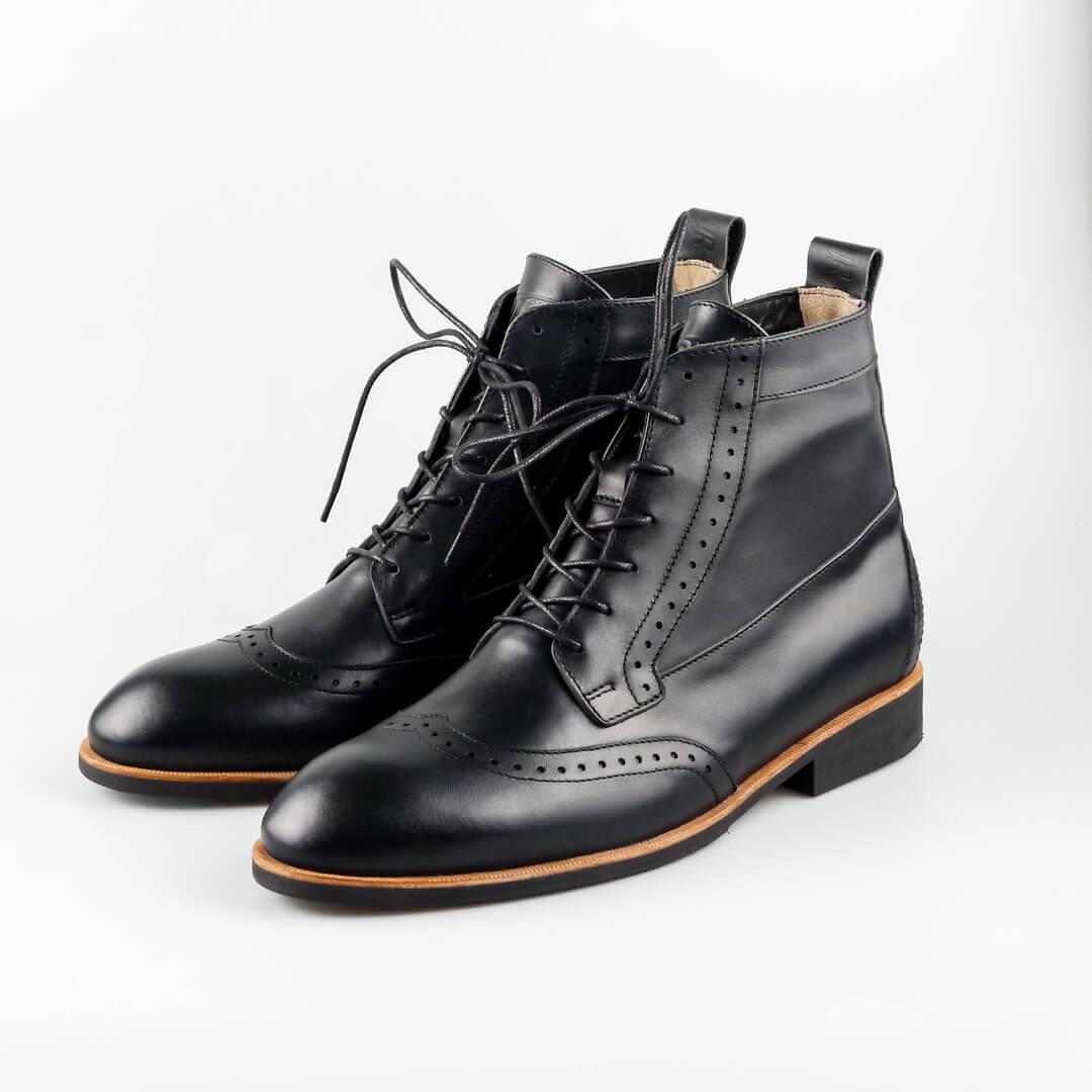 Высокие мужские ботинки Hi Brogue №1 Black