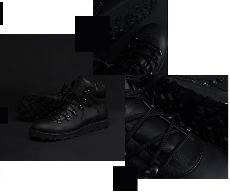 Осенние ботинки для хайкинга из черного матового нубука AFOUR Hiker Matt Black