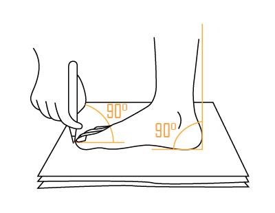 Как правильно обводить контур стопы - How to properly traverse the foot contour